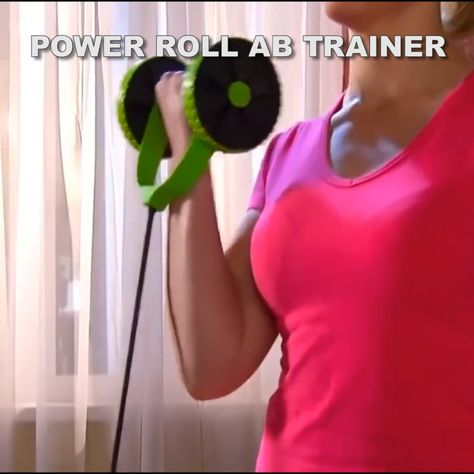 Perfect Compact Home Fitness Equipment That Will Help You Strengthen Your Entire Body!   Want abs but just can't seem to get them? No matter how many crunches you do or how many ab exercises you buy, you just can't get that 6 pack you've always dreamed of? The Power Roll Ab Trainer is the perfect solution. It makes wor