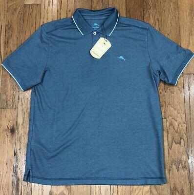 NWT $99 Tommy Bahama SS Shirt Gulf Shore Green Mens L XXL Cirrus Coast Polo NEW