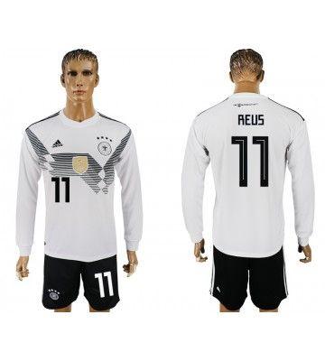 Tyskland Marco Reus 11 Hemmatroja Man Vm 2018 Langarmad Toni Kroos Sports Jersey Sports