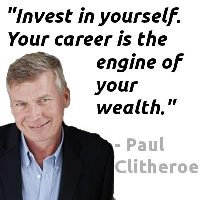 Image result for paul clitheroe invest in yourself