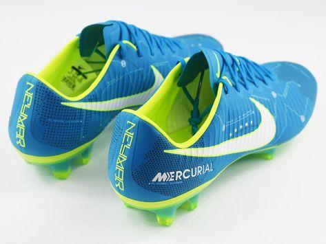 e2ecd2119 Nike Mercurial Vapor XI Neymar Jr Mens Size 8 Soccer Cleats Blue 921547 400  NJR