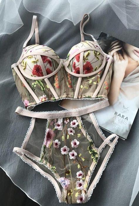 45 Hot Trends Wedding Lingerie 2019 – My Wedding Ideas Pretty Lingerie, Sheer Lingerie, Beautiful Lingerie, Lingerie Sleepwear, Luxury Lingerie, Elegant Lingerie, Delicate Lingerie, Lingerie Sets, Sleepwear Women