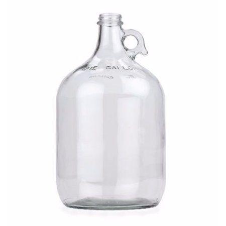 1 Gallon Glass Jug Set Of 4 Walmart Com In 2020 Glass Jug Making Wine At Home Beer Brewing Kits