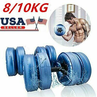 8 10 Kg Water Filled Barbells Adjustable Dumbbell Eco Friendly Fitness Equipment In 2020 No Equipment Workout Adjustable Dumbbells Dumbbell