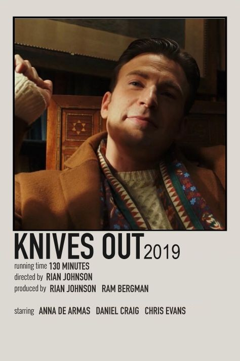 knives out movie print