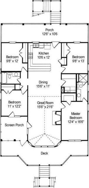 Trendy Home Improvement House Layout 32 Ideas Beach House Floor Plans Coastal House Plans Cottage Floor Plans