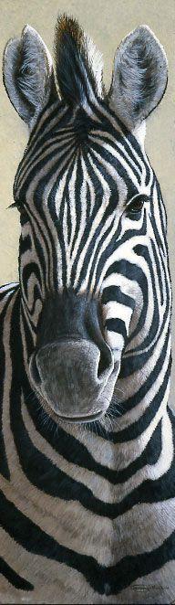 Zebra acrylic painting by Jeremy Paul - Animal / Wildlife artwork.