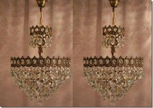 Elegant Zwei Antike Jugendstil Kristall L ster Kronleuchter Shop Kaboodle http BerlinChandeliersGermany