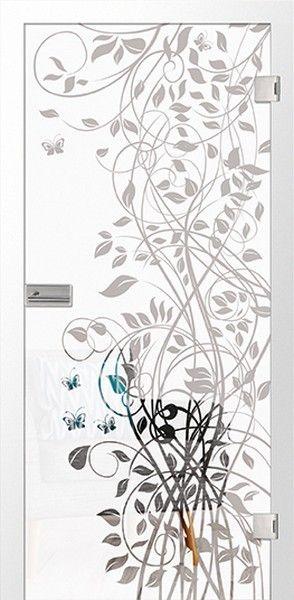 Flowers 3 Mattierung Glastur Mit Motiv Klar Erkelenz Deinetur De Glastur Motive Turen Und Zargen