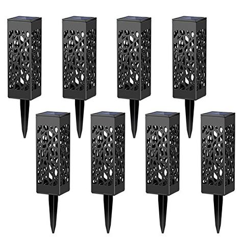 Automatic Led for Patio Yard and Garden Maggift 8 Pcs Solar Powered LED Garden Lights