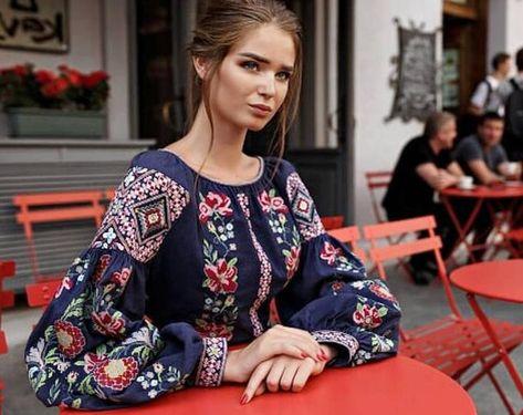 ~ Mermaid boho wedding dress Ukrainian embroidery Inspired fashion bohemian gown in 2020