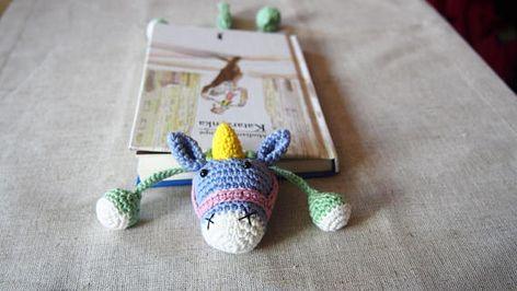Amigurumi Unicorn Kitap Ayracı Yapımı - Örgü Modelleri | 266x472