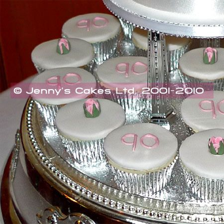 Cupcake foiled party decor for my Grandfathers 90th birthday party