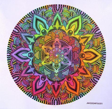 Colourful Mandala....  would make a gorgeous tattoo I guess...