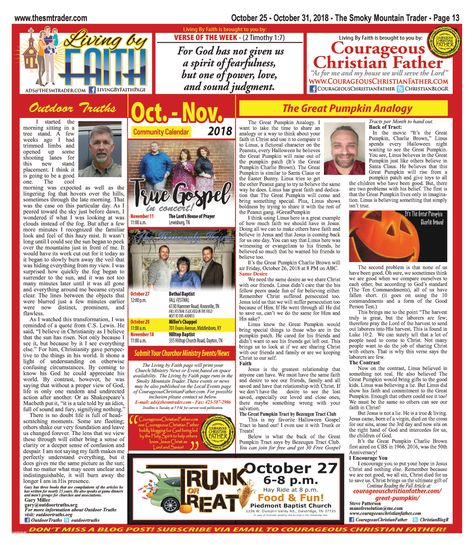 Living by Faith Page - October 25, 2018