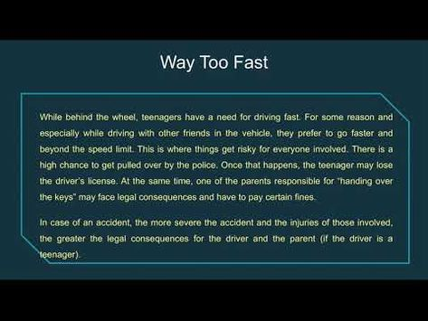 Teen Car Accidents Caused By Speeding & Aggressive Driving