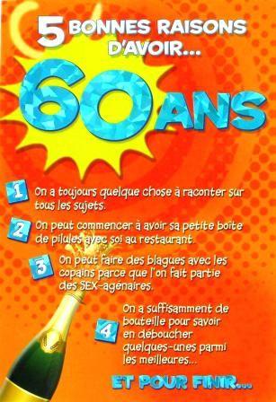 carte anniversaire homme 60 ans Texte Anniversaire 60 Ans Homme Humoristique | Texte anniversaire