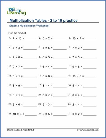 Multiplication Sheets Grade 3 In 2020 3rd Grade Math Worksheets