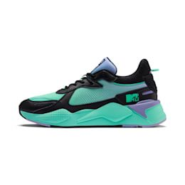 PUMA x Mtv Rs-x Tracks Pastel 2 Trainers in Black/Sweet Lavender size 5.5