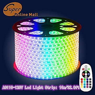 Amazon Com Superonlinemall Ac 110 120v Flexible Rgb Led Strip Lights 60 Leds M Waterproof Multi Col Led Strip Lighting Led Rope Lights Rgb Led Strip Lights