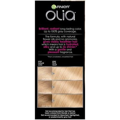 Garnier Olia Brilliant Color 9 0 Light Blonde Permanent Hair