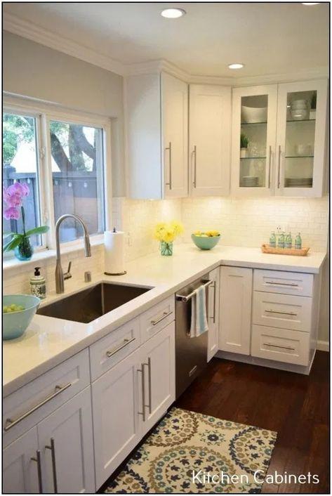 33 Attractive Small Kitchen Design Ideas In 2020 Budget Kitchen Solution Kitchen Remodel Small White Modern Kitchen Kitchen Layout