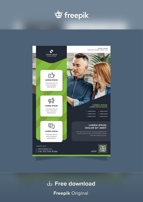 Download Business Poster Print Template for free
