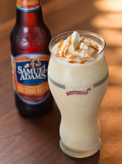 Samuel Adams Octoberfest Milkshake at Red Robin (Sam Adams, soft serve vanilla ice cream, vanilla syrup, and caramel). I want to try this!!!