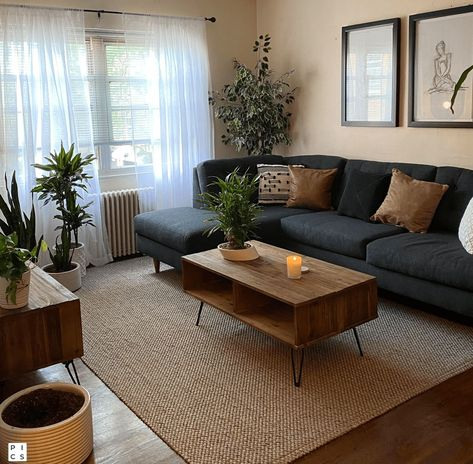 Small Apartment Living, Small Living Rooms, Home Living Room, Barn Living, Brown Living Room Furniture, Small Living Room Designs, Modern Living Room Design, Small Living Dining, Masculine Living Rooms