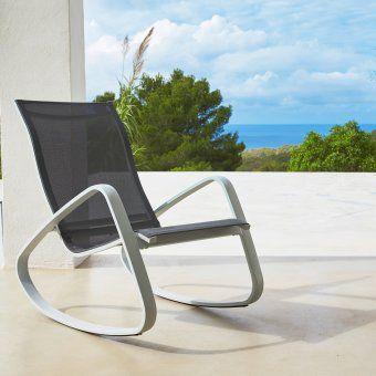 Rocking Chair Hyba Alu 152 Carrefour Mobilier Jardin Meuble