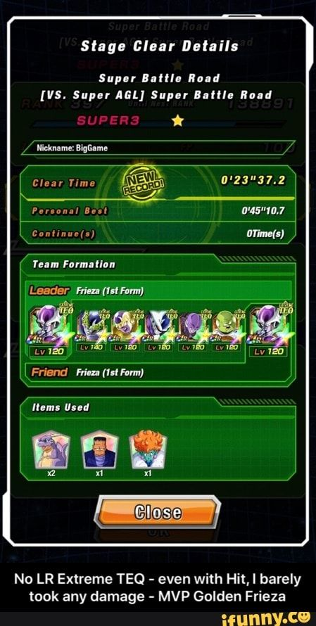 No Lr Extreme Teq Even With Hit I Barely Took Any Damage Mvp Golden Frieza Ifunny Memes Ifunny Still Love You