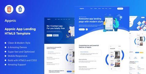 Appnic — App Landing Page | Stylelib