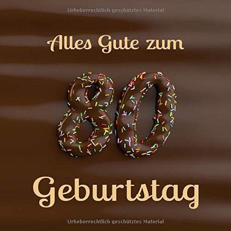 Alles Gute Zum 80 Geburtstag Ga Stebuch Zum Eintragen Mit 110