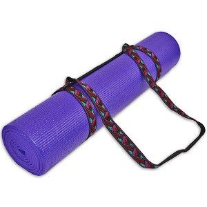 Simple And Stylish Our Yoga Mat Harness Strap Is Built To Perfectly Pack And Sling Your 1 8 Or 1 4 Yoga Mat Yoga Mat Carrying Strap Yoga Strap Mat Pilates