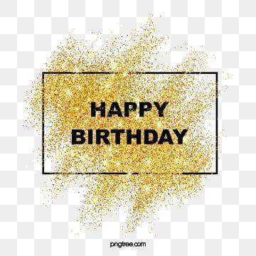 Luxury Sparkling Sparkling Gold Powder Happy Birthday Border
