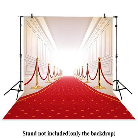 Hellodecor Polyster 5x7ft Photography Backdrops Wedding Background Red Carpet Gallery Palace Photo Studio Wedding Background Photo Studio Photography Backdrops