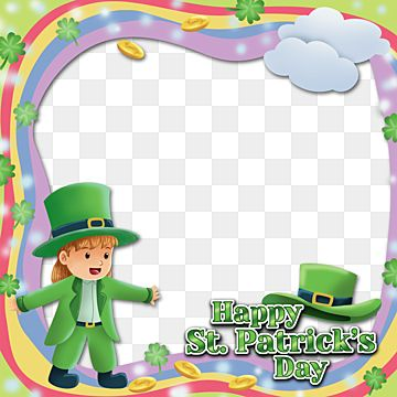 Rainbow Frame For Saint Patrick Day With Happy Children Girl Saint Patrick Patrick Saint Patrick Day Png Transparent Clipart Image And Psd File For Free Down In 2021 Happy St Patricks