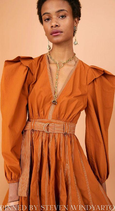 Ulla Johnson Fall 2021 Lookbook - Corliss Dress #fall2021 #fw21 #womenswear #ullajohnson