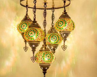 Gratis Schip Turkse Lamp Opknoping Lamp Plafond Verlichting Etsy Turkish Lamps Chandelier Shades Hanging Lamp Shade