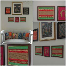 Fabric Wall Art Fabric Wall Art Indian Inspired Decor Framed