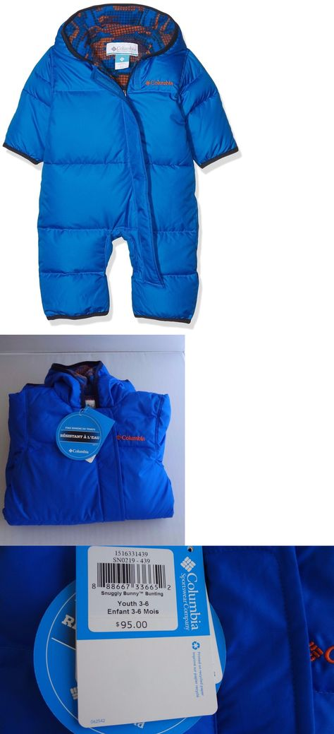 ced25e913 Outerwear 163399: Columbia Baby Boys Snuggly Bunny Bunting Super Blue Super  Blue Dot Sz 3-6 Month -> BUY IT NOW ONLY: $35 on eBay!