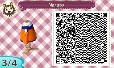 Animal Crossing New Leaf Naruto Qr Code 3 Of 4 In 2020 Animal