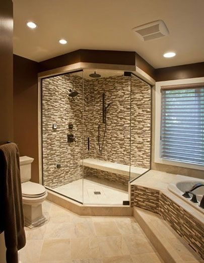 Bathroom Design: Gorgeous Tile Work In This Shower And Tub Surround. | Www. Design Ideas