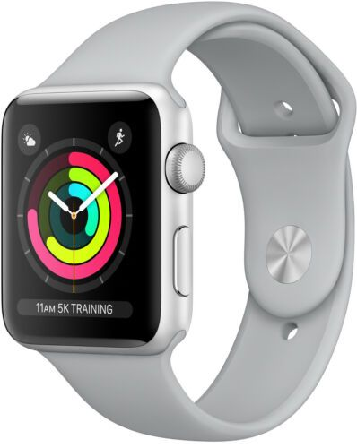 Apple Watch Series 3 42mm Gps Smartwatch Silver Aluminum Case And Sport Band Shop The Most Bought Ebay Apple Watch Silver Buy Apple Watch Apple Watch Series 3