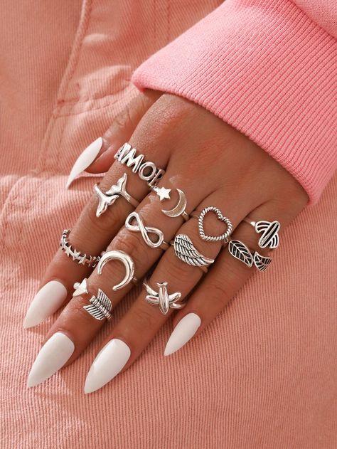12pcs Minimalist Ring | SHEIN
