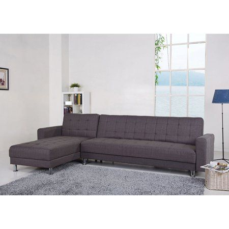 Gold Sparrow Frankfort Fabric Convertible Sectional Sofa At With Free Shipping 550