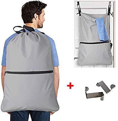 Amazon Com Luxja Laundry Backpack Laundry Bag With Extra