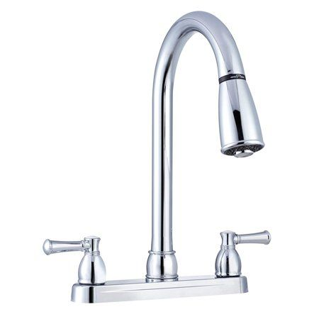 Dura Faucet Non Metallic Dual Lever Pull Down Rv Kitchen Faucet Chrome Polished Silver In 2021 Chrome Kitchen Faucet Kitchen Faucet Kitchen Sink Faucets Chrome
