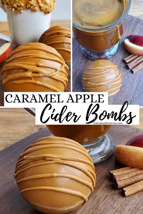 Hot Chocolate Gifts, Mexican Hot Chocolate, Chocolate Bomb, Hot Chocolate Bars, Hot Chocolate Recipes, Cocoa Tea, Dessert Bowls, Yummy Drinks, Caramel Apples