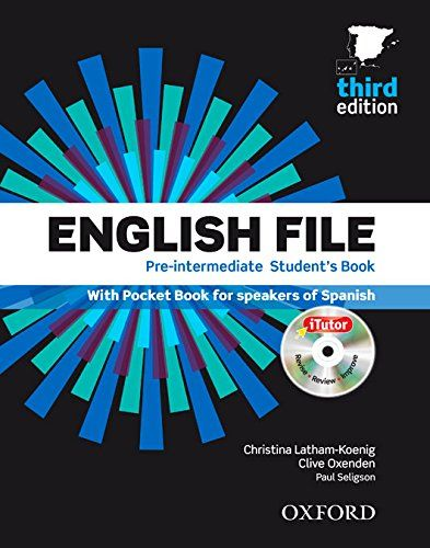 English File 3rd Edition Pre Intermediate Student S Book Itutor And Pocket Book Pack English File English File Pocket Book Workbook